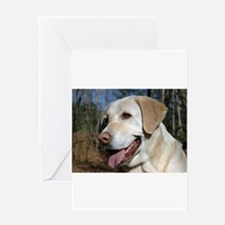Cute Yellow labrador Greeting Card