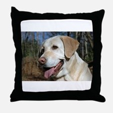 Cute Yellow labrador Throw Pillow