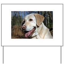 Unique Yellow lab Yard Sign