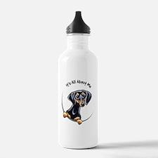 Black Tan Dachshund Water Bottle