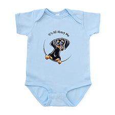 Black Tan Dachshund Infant Bodysuit