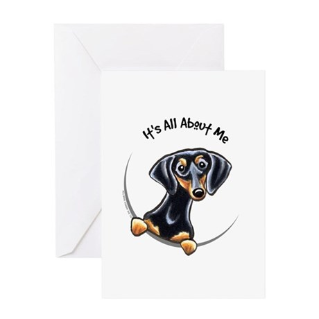 Black Tan Dachshund Greeting Card