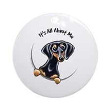 Black Tan Dachshund Ornament (Round)