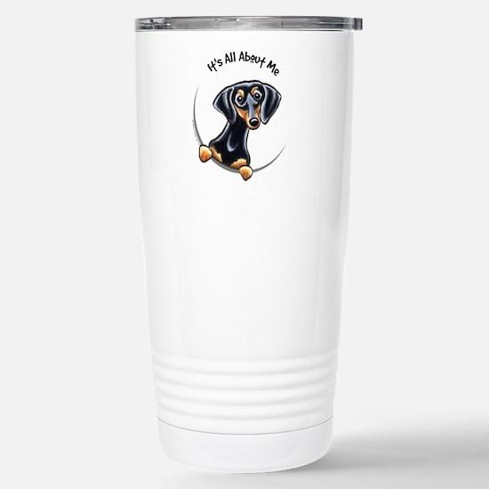 Black Tan Dachshund Stainless Steel Travel Mug