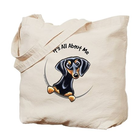 Black Tan Dachshund Tote Bag