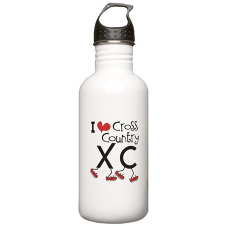 I heart Cross Country Stainless Water Bottle 1.0L