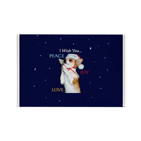 Dott Love Joy & Peace Rectangle Magnet