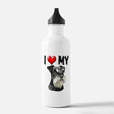I Love My Miniature Schnauzer Water Bottle