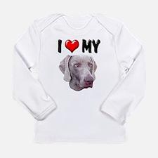 I Love My Weimer Long Sleeve Infant T-Shirt