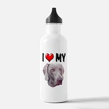 I Love My Weimer Water Bottle