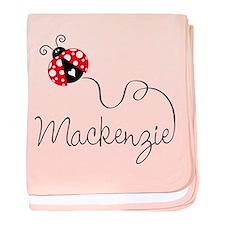 Ladybug Mackenzie baby blanket