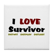 Survivor fan Tile Coaster