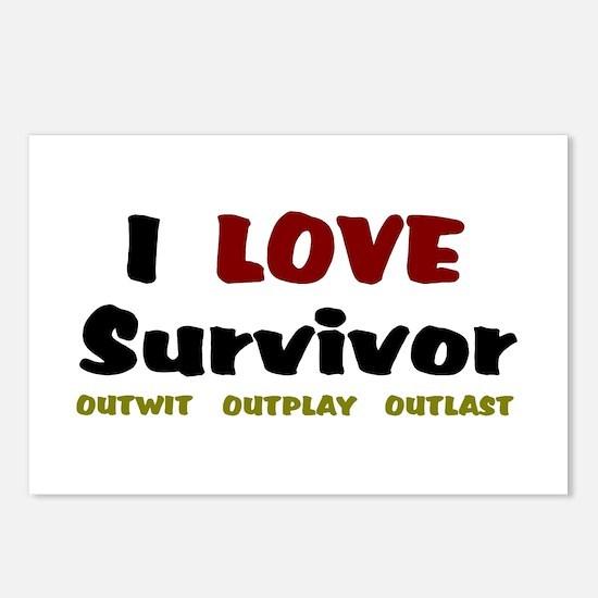 Survivor fan Postcards (Package of 8)