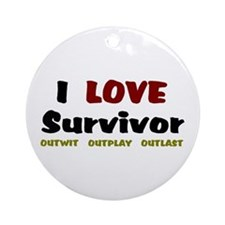 Survivor fan Ornament (Round)