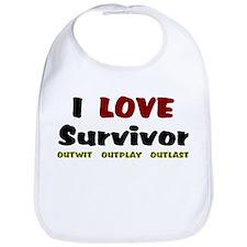 Survivor fan Bib