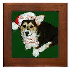 Have a Very Corgi Christmas Framed Tile
