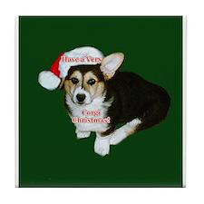 Have a Very Corgi Christmas Tile Coaster