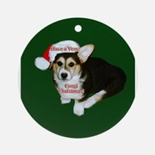 Have a Very Corgi Christmas Ornament (Round)