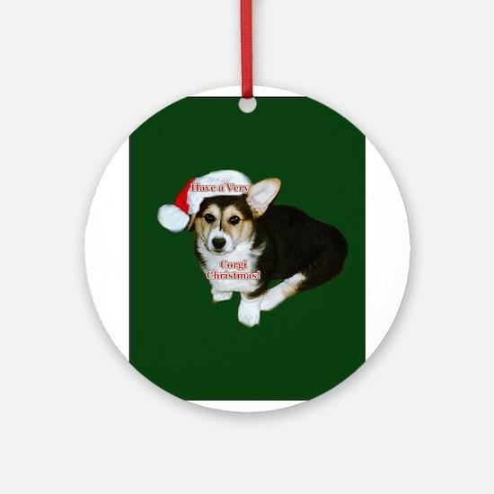 Have a Very Corgi Christmas Ornament (Round)