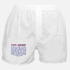 Fourth Amendment Boxer Shorts