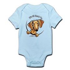 Red Dachshund IAAM Infant Bodysuit