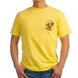 Dachshund Mens Yellow T-shirts