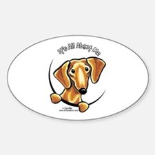 Red Dachshund IAAM Decal