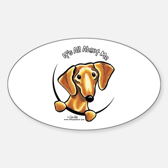 Red Dachshund IAAM Sticker (Oval)