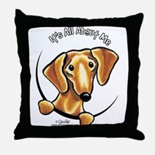 Red Dachshund IAAM Throw Pillow