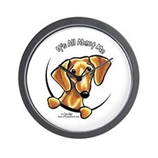 Red Dachshund IAAM Wall Clock