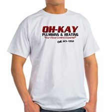 OH-KAY Plumbing (Distressed) T-Shirt
