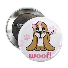 "Woof! Basset Hound 2.25"" Button (10 pack)"