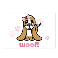 Woof! Basset Hound Postcards (Package of 8)