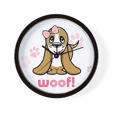 Woof! Basset Hound Wall Clock