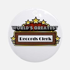 World's Greatest Records Cler Ornament (Round)