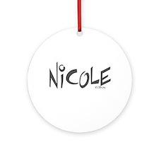 Nicole Ornament (Round)