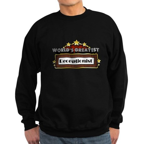 World's Greatest Receptionist Sweatshirt (dark)