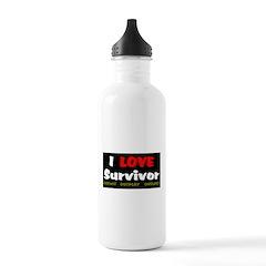 Survivor fan Water Bottle