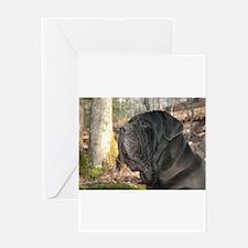 Cute Neapolitan mastiff Greeting Card