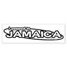 """""""I pooped in Jamaica"""" Bumper Bumper Sticker"""