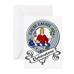 Elphinstone Clan Badge Greeting Cards (Package of