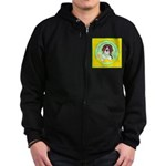 Beagle Bitch Diva Zip Hoodie (dark)