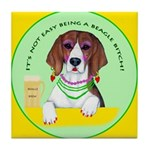 Beagle Bitch Diva Tile Coaster