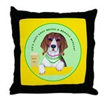 Beagle Bitch Diva Throw Pillow
