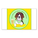 Beagle Bitch Diva Sticker (Rectangle)
