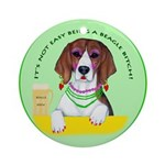 Beagle Bitch Diva Ornament (Round)