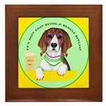 Beagle Bitch Diva Framed Tile