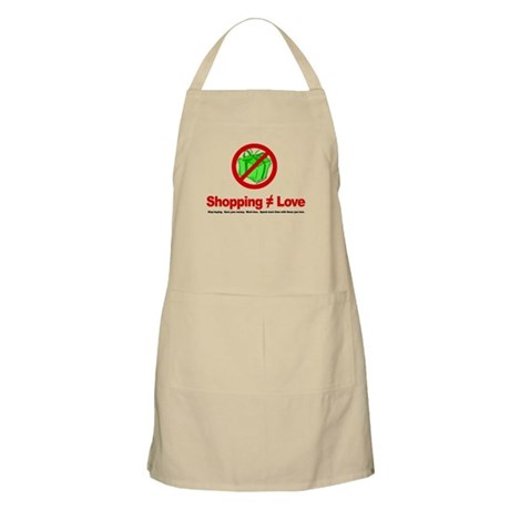 Shopping (does not equal) Love - Apron