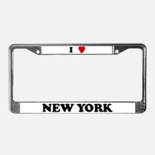 I Love New York License Plate Frame