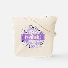 Crystal Purple Twilight Wreath Tote Bag